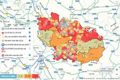 Bắc Ninh lập bản đồ thời gian thực về diễn biến Covid-19