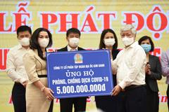 Địa ốc Kim Oanh ủng hộ 7 tỷ đồng mua vắc-xin Covid-19