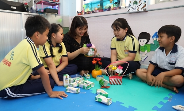 Sữa học đường ở Bến Tre: 4 năm cải thiện cơ bản thể trạng học sinh