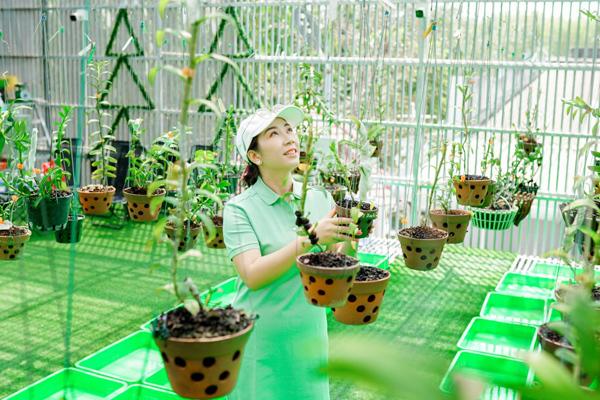 Người phụ nữ Thái Bình sở hữu hàng trăm chậu lan quý