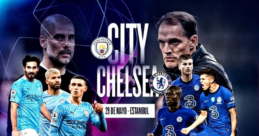 Trực tiếp chung kết cup c1: Man city vs Chelsea