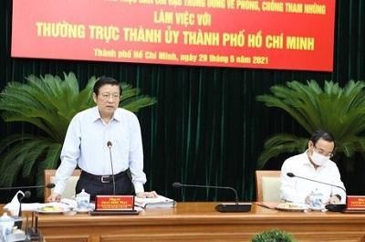 Ban Nội chính Trung ương yêu cầu TP.HCM đẩy nhanh xử lý các vụ việc lớn