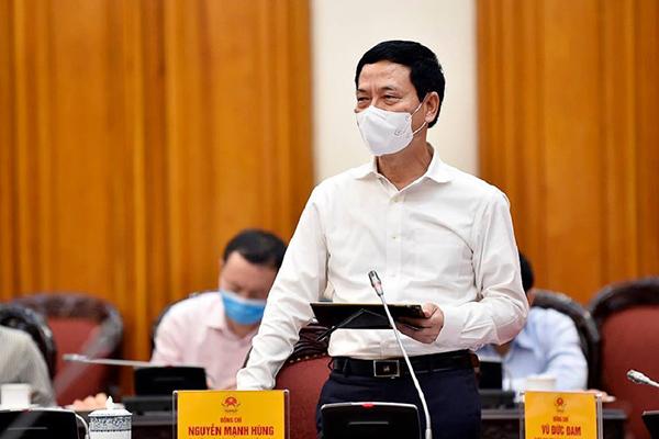 Bài phát biểu của Bộ trưởng TT&TT Nguyễn Mạnh Hùng về phòng chống dịch Covid-19