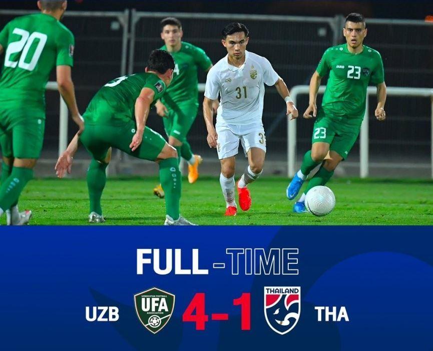 Thái Lan thảm bại trước vòng loại World Cup 2022