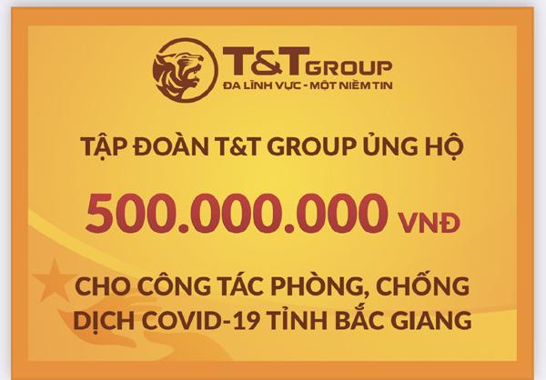 T&T Group tiếp tục ủng hộ Bắc Ninh, Bắc Giang 1 tỷ đồng chống dịch