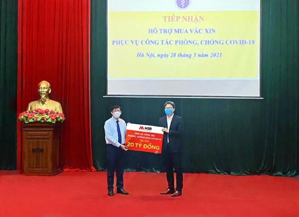 MSB và TNG Holdings Việt Nam góp 30 tỷ đồng chống dịch Covid-19