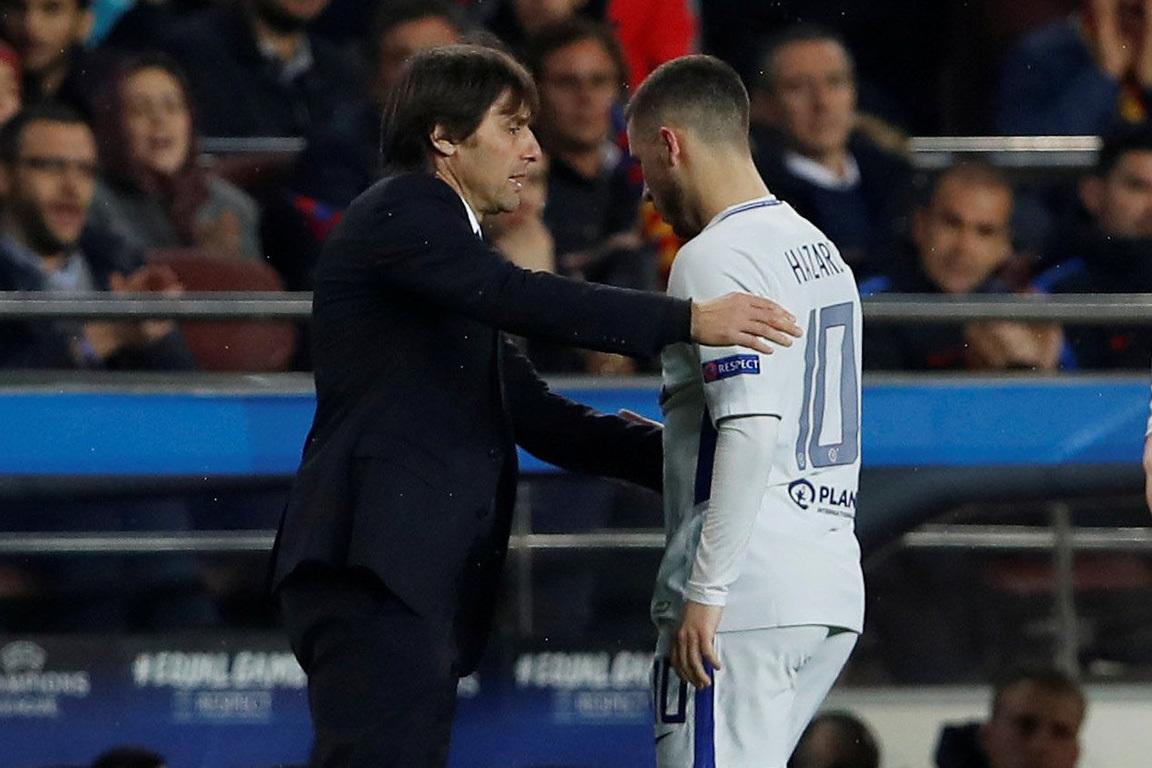Chưa về Real Madrid, Conte sớm gây chiến Hazard