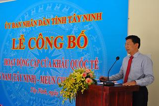 Cặp cửa khẩu quốc tế Tân Nam - Meun Chey đi vào hoạt động