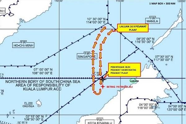 Malaysia đòi Trung Quốc giải thích vụ máy bay xâm phạm không phận