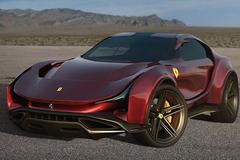 Mẫu SUV đầu tiên của Ferrari với thiết kế hầm hố