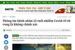 Đề nghị xử phạt báo điện tử Dân trí vì thông tin sai về Covid-19