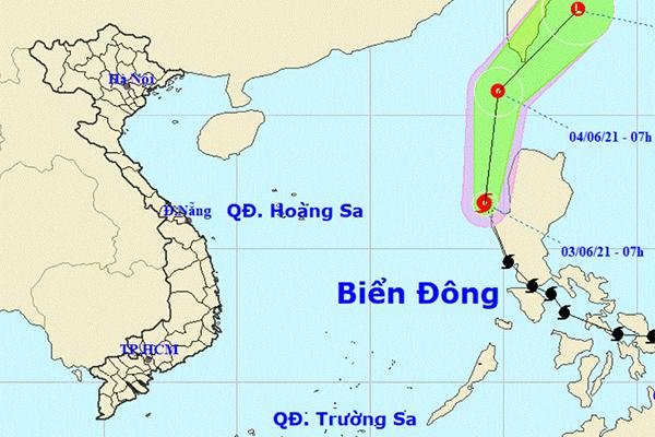 Bão Choi-wan vào Biển Đông, thành cơn bão số 1 năm 2021