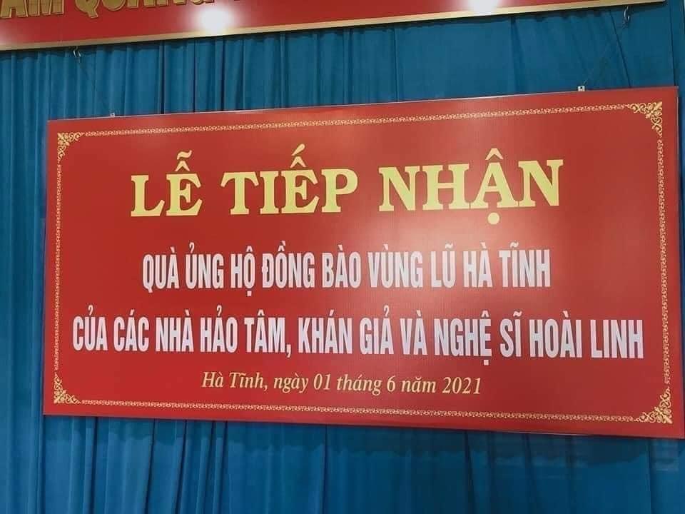 Đại diện NSƯT Hoài Linh đã trao 11 tỷ cho 4 tỉnh miền Trung