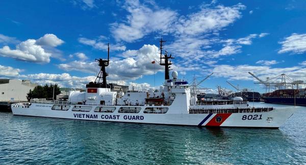 US-sponsored John Midgett coast guard ship en route to Vietnam