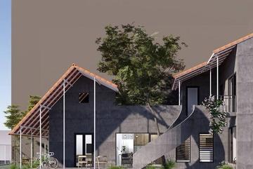 Ngôi nhà trát xi măng, xây hết 800 triệu đồng củanhiếp ảnh gia Nghệ An