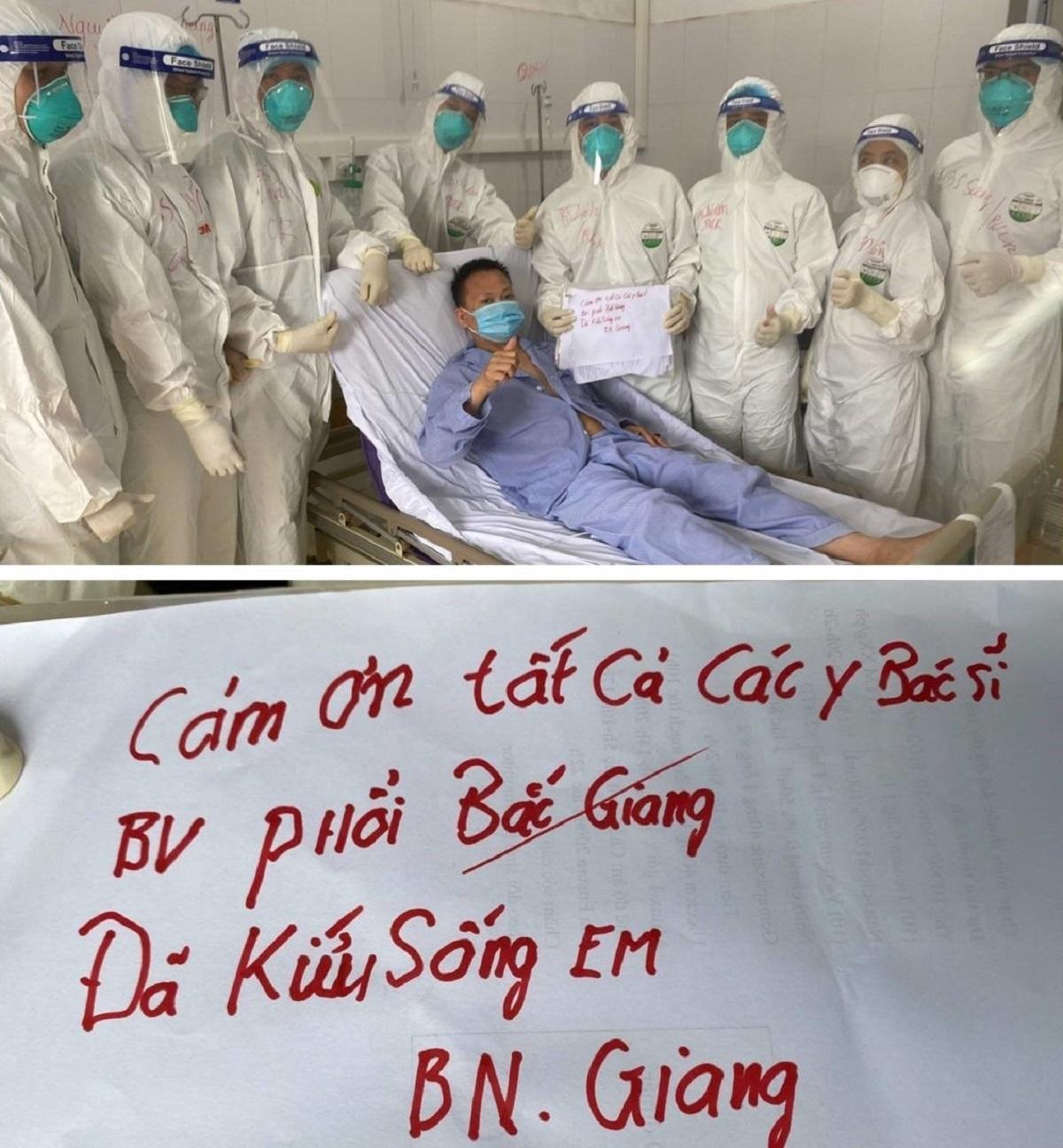 Ca Covid-19 nặng phải thở máy ở Bắc Giang âm tính lần 1