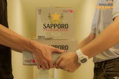 Giao bia nhanh Sapporo, tận hưởng vị êm đằm tại nhà, an toàn mà vẫn vui
