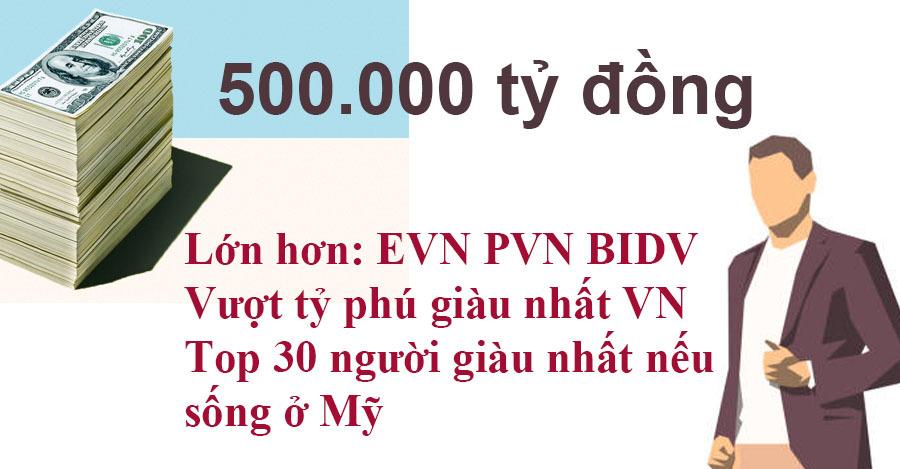 Nhóm người Việt nói có 500.000 tỷ, tính xem giàu cỡ nào