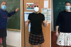 Thầy giáo đồng loạt mặc váy đến trường để bênh vực học sinh