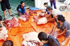 Mổ lợn tạ làm xúc xích, ruốc bông gửi người dân Bắc Giang chống dịch