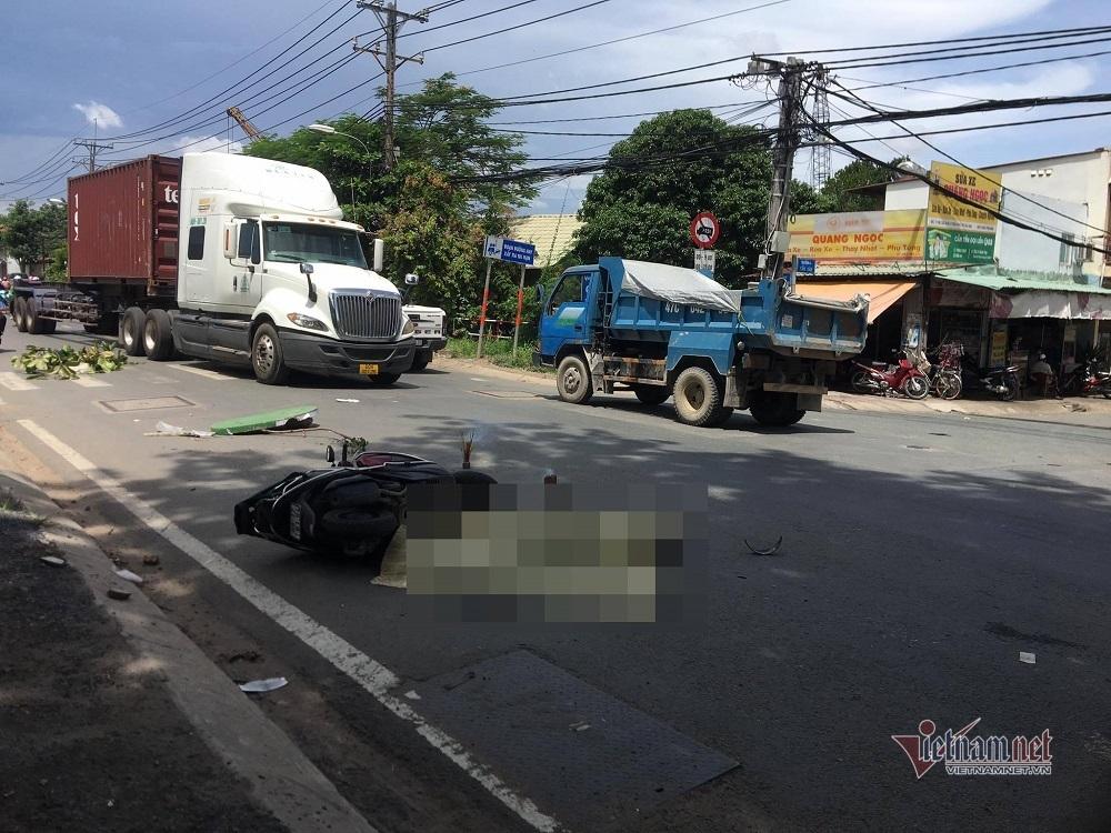 Va chạm giao thông ở TP. Thủ Đức, một phụ nữ bị xe ben cán tử vong
