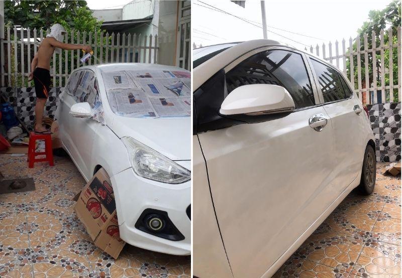 Nam thanh niên khoe tự sơn ô tô hết 350 ngàn, gara lắc đầu