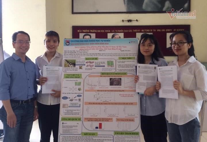 Nữ sinh Hà Nội chế tạo vật liệu mới hấp phụ kháng sinh trong nước thải