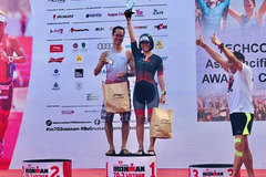 Woman goes from top swimmer to leading triathlon athlete