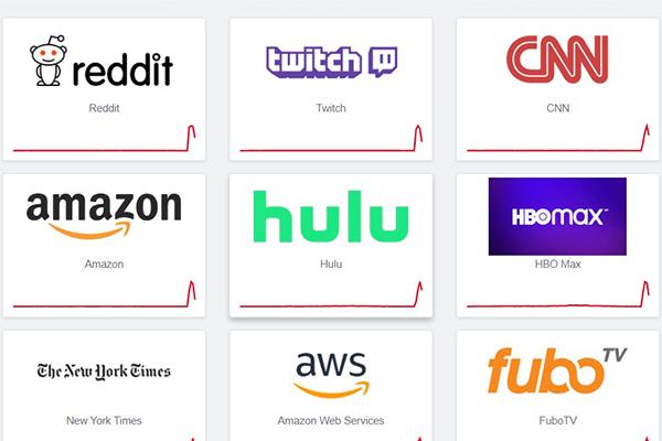 Nhiều website nổi tiếng đồng loạt gặp sự cố