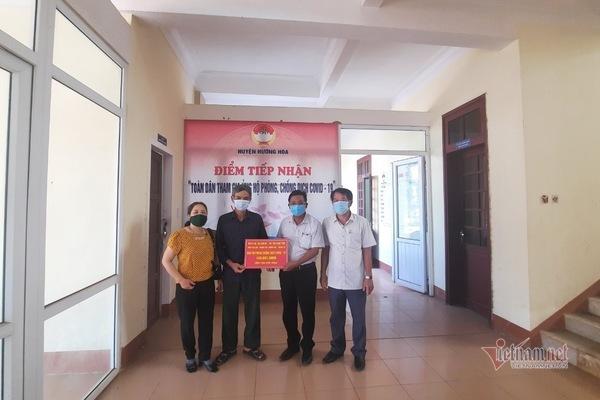 Vợ chồng làm rẫy ở Quảng Trị tặng 100 triệu cho quỹ phòng, chống Covid-19