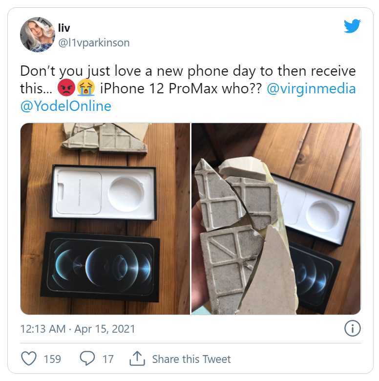 Đặt mua iPhone 12 hơn 39 triệu đồng, cô gái choáng váng khi mở hộp