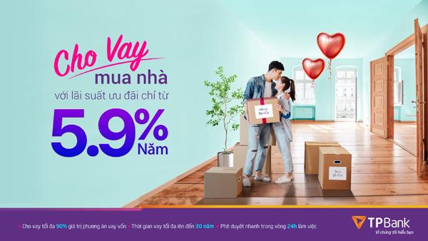 Vay mua nhà với lãi suất 5,9%/năm từ TPBank