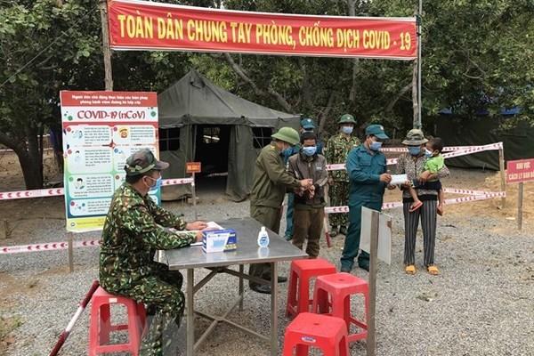 Phòng tuyến chống dịch, xuất nhập cảnh trái phép và bảo vệ biên giới