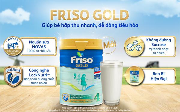 Bé tiêu hoá khoẻ với Friso Gold Mới 100% dinh dưỡng từ Châu Âu