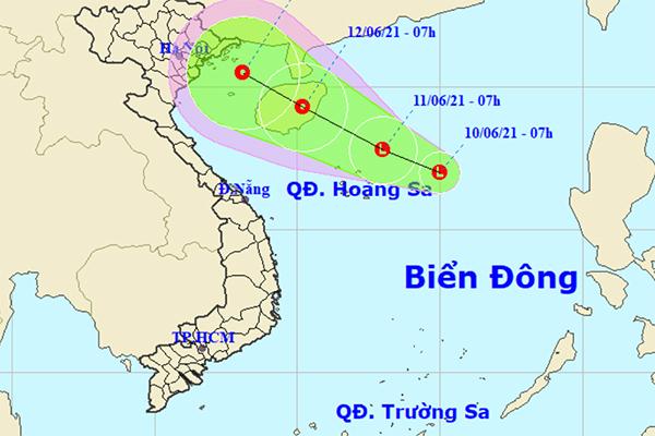 Xuất hiện vùng áp thấp có khả năng mạnh thêm trên Biển Đông