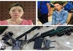 Bắt cặp vợ chồng ở Hà Nội mua bán ma tuý, thu giữ nhiều súng đạn