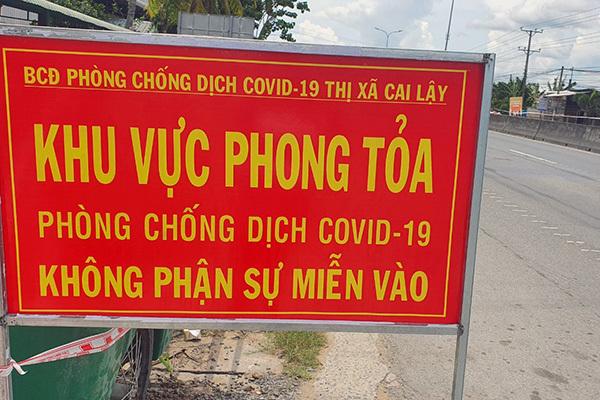 Tiền Giang giãn cách thị xã Cai Lậy và huyện Cái Bè từ 0h ngày 14/6
