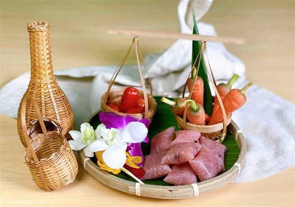 Nem chua,made from fermented pork,Vietnamese food