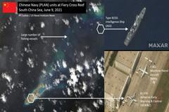Tàu và máy bay trinh sát Trung Quốc xuất hiện ở Đá Chữ Thập