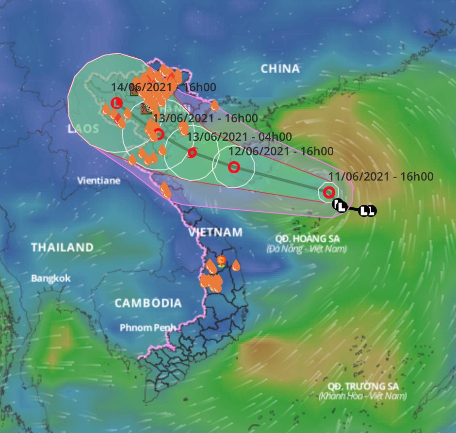 Áp thấp nhiệt đới khả năng thành bão, miền Bắc có nơi mưa rất to