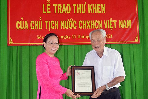 Chủ tịch nước gửi thư khen cụ ông 98 tuổi ở Sóc Trăng