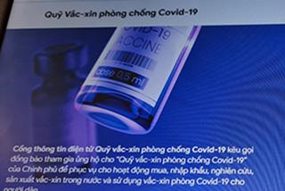 Có thể ủng hộ Quỹ vắc xin phòng Covid-19 qua website