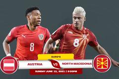 Trực tiếp Áo vs Bắc Macedonia: Đôi công rực lửa
