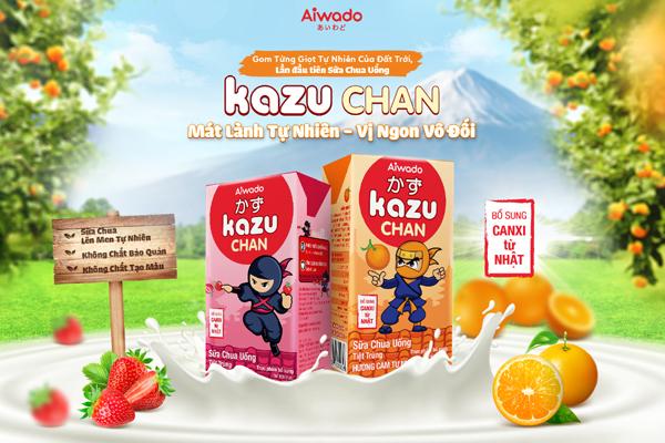 Aiwado ra mắt sữa trái cây & sữa chua uống Kazu Chan mát lành tự nhiên