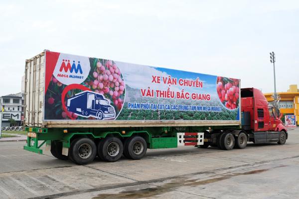 Vải thiều, nông sản Bắc Giang 'giá tốt' ở MM Mega Market