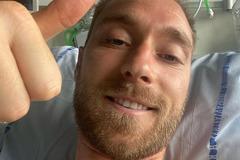 Hình ảnh đầu tiên của Eriksen từ bệnh viện: 'Tôi vẫn khỏe'