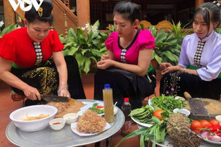 Buffalo meat dishes of the Thai ethnic group