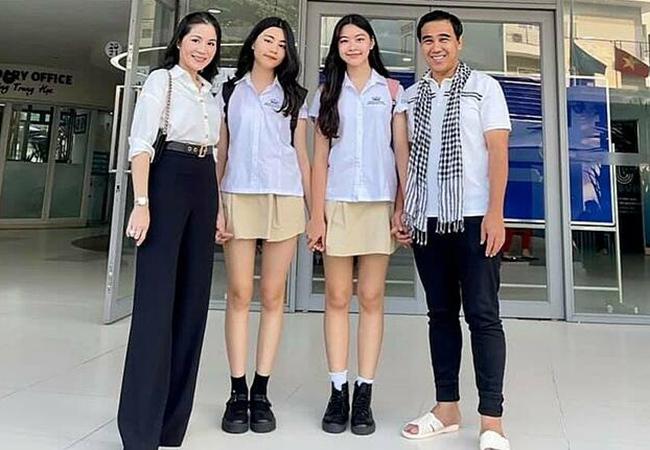 Hai con gái Quyền Linh xinh đẹp, cao vượt bố mẹ
