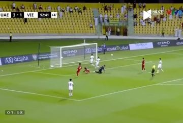 Video Minh Vương ghi bàn phút 93 khiến UAE hú vía