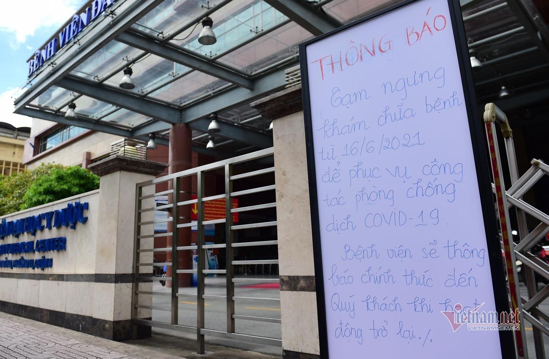 Bệnh viện Đại Học Y Dược TP.HCM tạm phong tỏa, ngưng nhận bệnh nhân ngoại trú